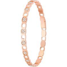 J'adore !Impression Domino bracelet pink gold and diamonds #dinhvan #paris #jewels #jewelry #bracelet #gold #diamonds