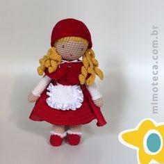 CHAPEUZINHO VERMELHO Mimos personalizados em crochet! Queremos alcançar a sua imaginação e tocar bem de perto quem está recebendo este Mimo diferenciado. Eles saem de nossas mãos sempre encantados, recheados de muito amor, a essência do nosso dia a dia! Pedidos e maiores informações por e-mail: contato@mimoteca.com.br