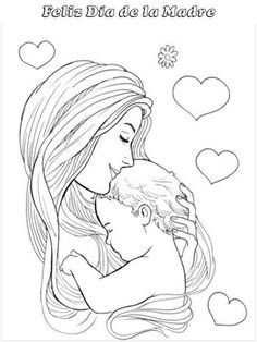 Mother And Baby Paintings, Mother And Child Drawing, Mom Drawing, Mother Art, Drawing Sketches, Mommy Tattoos, Father Daughter Tattoos, Tattoos For Daughters, Dark Art Drawings