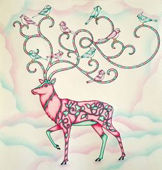 Johannabasford Enchantedforest Candycolors Prismacolor Slicci Stag