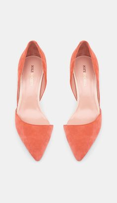 Shoes, coral, womens fashion