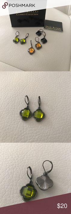 Joan rivers earrings Beautiful shamrock shaped. Fall colors. Never worn. joan rivers Jewelry Earrings