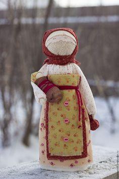 Купить Кукла народная Мамушка Светлая - кремовый, мамушка, мама и малыш, мама, народная кукла
