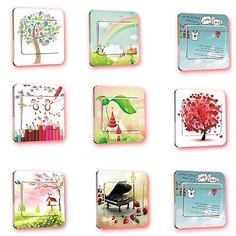 0.68$  Buy here - 2017 Hot New Wall Sticker Scenery Switch Cover Light Switch Panel Stickers Art Mural Nursery Room Home Decal   #aliexpressideas
