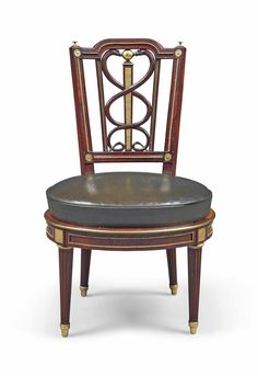 a german ormolu mounted mahogany chair attributed to david roentgen circa 1785
