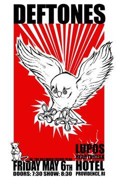 providence gig poster Deftones - Dillinger Escape Plan