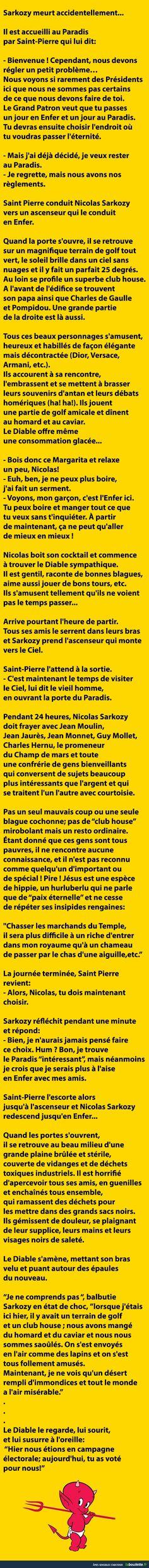 Sarkozy meurt accidentellement... Il est accueilli au Paradis... | LABOULETTE.fr - Les meilleures images du net!