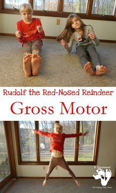 Rudolph The Red-Nosed Reindeer Themed Gross Motor – Heather Grant – art therapy activities Preschool Movement Activities, Preschool Christmas Activities, Gross Motor Activities, Art Therapy Activities, Toddler Preschool, Preschool Activities, Therapy Ideas, Preschool Plans, Toddler Class