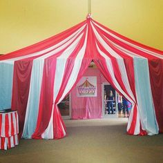 We could make the entrance to the food area with the tent