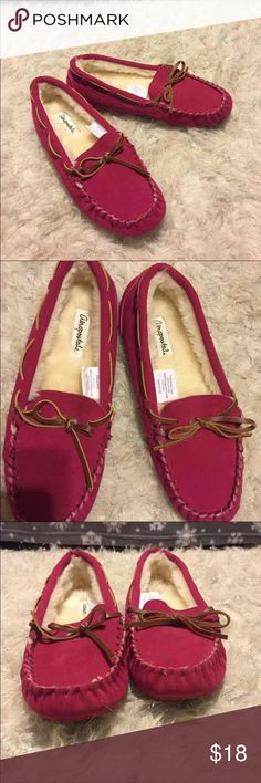 Aeropostale moccasins -warm and cozy -brand new  -has a hard bottom sole Aeropostale Shoes Moccasins