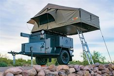 In case you haven't had a thrilling weekend journey for a very long time, plan a camp with a roof tent. Quite a lot of Australian companies stock stur. Roof Rack Tent, Diy Roof Top Tent, Top Tents, Off Road Camper Trailer, Tent Campers, Camper Trailers, Life Trailer, Trailer Build, Cargo Trailers