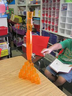 Growing a STEM Classroom: Our First STEM Challenge ~ Tiny Glasses Challenge!