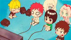 Naruto, Gaara, Lee, Kiba, Ino & Sakura #Cute #Chibi #LOL
