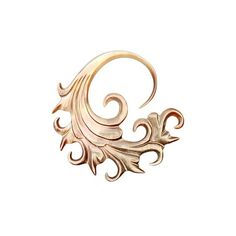 Tawapa :: Rose Gold Plated :: Shell Ultra Onda (220 CAD) ❤ liked on Polyvore featuring fillers, jewelry, gold, backgrounds and corners