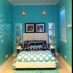 Tiffany blue girls bedroom.