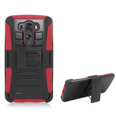Wemo Advanced Armor Holster LG G3 Case - Red