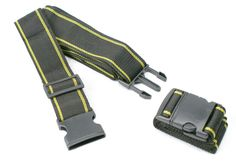 Heavy Duty Luggage Straps, 2 X Suitcase Belts For Travel Black & Yellow Stripe #AA