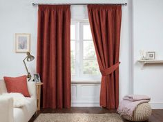 Dante Ready Made Lined Curtains - Spice Pleated Curtains, Lined Curtains, Hanging Curtains, Window Curtains, Window Types, Pencil Pleat, Curtain Poles, Window Treatments