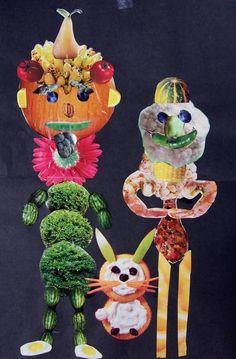 The lost sock: January 2012 - Obst Collage Kunst, Collage Art, Giuseppe Arcimboldo, Food Art For Kids, Art Kids, In Natura, Art Programs, Fruit Art, Autumn Art