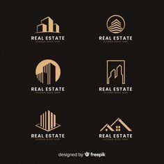 home logo Modern real estate logo collectio Vector Real Estate Icons, Real Estate Logo Design, Real Estate Branding, Building Logo, House Building, Corporate Branding, Corporate Design, Logo Branding, Architect Logo