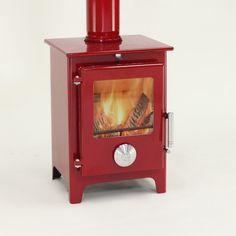 Mendip 5 Enamel Multi Fuel / Wood Burner Stove - Claret DEFRA APPROVED | Charlies Direct