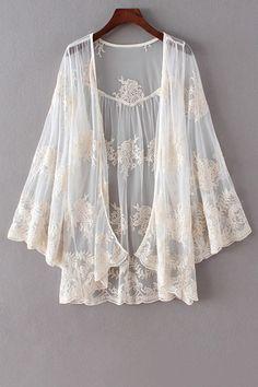 Vintage lace kimono #boho #festival #style