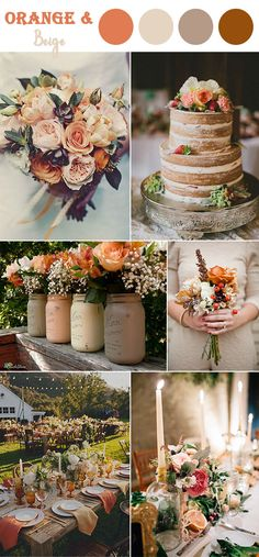 burnt orange and beige neutral warm fall wedding color inspiration colo. : burnt orange and beige neutral warm fall wedding color inspiration colors 8 Perfect Fall Wedding Color Combos To Steal In 2017 Perfect Wedding, Our Wedding, Dream Wedding, Trendy Wedding, Beige Wedding, Elegant Wedding, Wedding Venues, Rustic Peach Wedding, Wedding Images