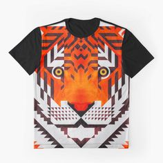 """Earn your stripes. """"Triangle Tiger"""" by Scott Partridge on Redbubble makes a super sick graphic tee."""