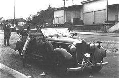 The Mercedes-Benz of Nazi SS-Obergruppenführer und General der Polizei Reinhard Heydrich after the assassination attempt in Prague, called Operation Anthropoid. Heydrich died from his injuries a week later, 1942 Mercedes Benz, Karl Hermann Frank, Etat Major, Canadian Soldiers, Historical Fiction Novels, Historical Images, Military History, World War Two, Wwii