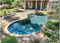 Beautiful outdoor pool Water Slides Backyard, Small Backyard Pools, Outdoor Pool, Outdoor Decor, Backyards, North Carolina, House, Beautiful, Houses