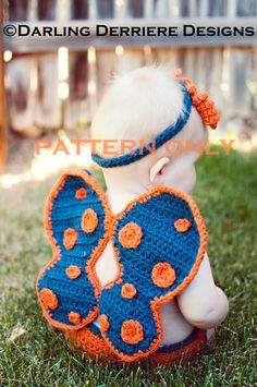 Butterfly Wings Headband and Diaper Cover by DarlingDerriere