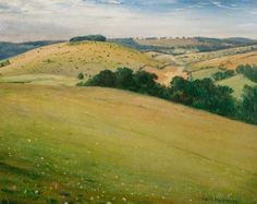 Summer in the Downs by Christopher Nevinson; 1946 or before; Oil on canvas… Landscape Art, Landscape Paintings, Landscapes, The Beautiful Country, Art Uk, Modern Artists, Your Paintings, Travel Posters, Painting & Drawing