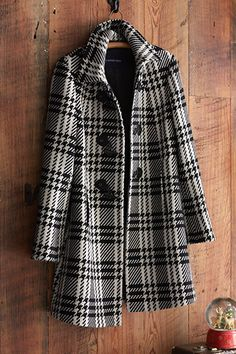 Lands' End | Gifts For Her | Perfectly polished and never out of place. This plaid wool coat is beautiful in its simplicity. Its A-line styling is timeless and flattering to most any shape.