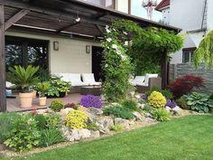 Garden Landscaping - New ideas Rock Garden Design, Garden Landscape Design, Small Garden Design, Home Landscaping, Front Yard Landscaping, Front Gardens, Outdoor Gardens, Beautiful Home Gardens, Rock Yard