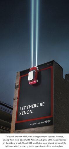 Mini environmental promotes Xenon lights.