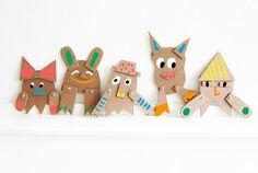 #DIY #Cardboard #monsters http://www.kidsdinge.com www.facebook.com/pages/kidsdingecom-Origineel-speelgoed-hebbedingen-voor-hippe-kids/160122710686387?sk=wall http://instagram.com/kidsdinge
