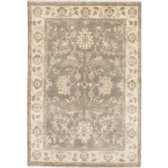 $600 Ecarpet Gallery Hand-knotted Royal Ushak Grey, Yellow Wool Rug (6'2 x 9'0). Get free shipping at Overstock.com - Your Online Home Decor Outlet Store! Get 5% in rewards with Club O! - 21124389