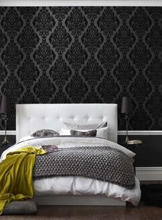 damask bedroom wallpaper