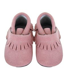 Loving this Pink Fringe Sofia Leather Booties on #zulily! #zulilyfinds