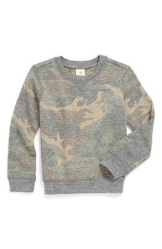 Tucker + Tate 'Berg' Camo Print Fleece Crewneck Top (Toddler Boys) available at #Nordstrom