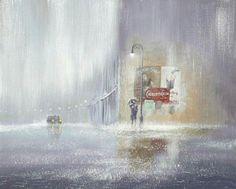 Estas Pinturas Capturan El Romance Bajo La Lluvia - Jeff Rowland