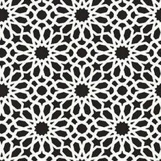 Schumacher Agadir Screen Noir Wallpaper