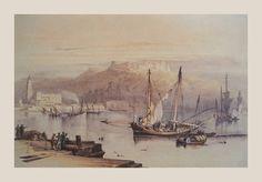 David Roberts. Citadel and Port of Malaga.