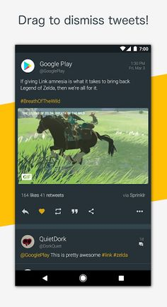 Talon for Twitter (Plus) v6.3.2 [Patched]   Talon for Twitter (Plus) v6.3.2 [Patched]Requirements:4.4Overview:Created with Material Design at its core Talon for Twitter includes stunning layouts eye catching animations and that buttery smoothness you should expect from the latest and greatest apps.  Talon gives you everything you could ever need to experience Twitter.  Custom Materialized theme engine for fine-grained color control. Completely custom swipe-able pages for the main screen…