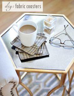 diy fabric coasters (simple sew)