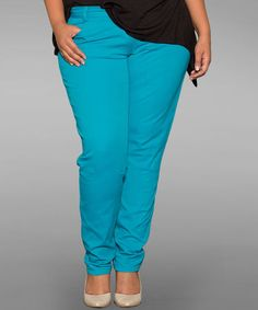 Look at this #zulilyfind! Capri Breeze Shannon Skinny Jeans - Plus by Sealed With a Kiss Designs #zulilyfinds