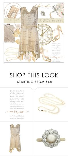 """1920's inspired"" by dani-elan ❤ liked on Polyvore featuring Gatsby, WALL, vintage, VintageInspired, golden, 1920s and golgenage"