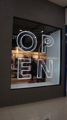 Storefront Signage, Retail Signage, Store Signage, Window Signage, Visual Merchandising, Layout Design, Signage Design, Design Ideas, Display Design