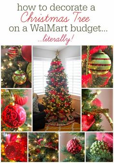 Not really DIY, but good to know about the tree. The How-To Crew: How To Decorate A Christmas Tree on a WalMart Budget....literally!