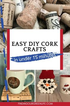 DIY Cork Projects That Take 15 Minutes or Less Wine bottles go in the recycling bin but what about the corks? They go in a drawer (not the junk drawer but a 'special' drawer) until the drawer gets too full and then they get moved to a box of stuff that I've got stowed away for a rainy day project. 5 cork projects in under 15 minutes. Wine Bottle Corks, Cork Crafts, Recycling Bins, Green Life, Junk Drawer, Helpful Hints, Easy Diy, Arts And Crafts, Craft Ideas